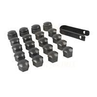 Gray 16x17mm Wheel Lug Nut Bolt Cap 4x 25mm Locking Types Cover for VW Audi