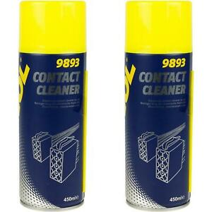 MANNOL 2x450ml Contact Cleaner Electrical Switch Circuit Dirt Spray Cleaner