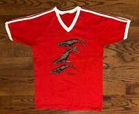 Maui The Humpback Whales Hibiscus Vintage Single Stitch T-Shirt Men's Large RARE