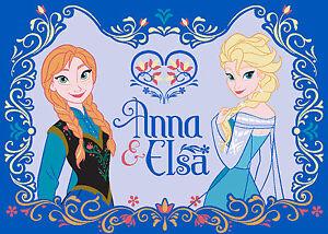 Disney Frozen Elsa&Anna Eiskönigin XXXL Teppich/Abtreter/Bettvorleger/Badematte