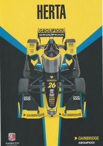 2021 Colton Herta Gainbridge Honda Dallara Indy Car Hero Card