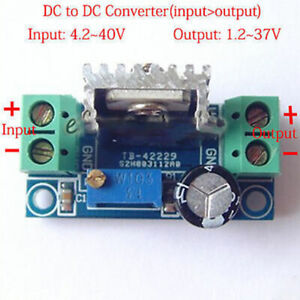 DC-DC Buck Step Down 4.2-40V to 3.3V 5V 6V 9V 12V 24V Voltage Linear Regulator