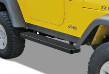 """iBoard Side Steps Nerf Bars 5"""" Black Fit 87-06 Jeep Wrangler TJ/YJ 2Dr"""