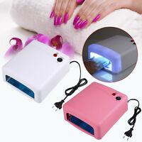 Pro Nail Polish Dryer Lamp 36W LED UV Gel Acrylic Curing Light Spa Kit 4 Bulbs