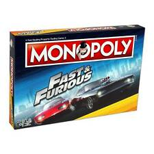 Monopoly Fast & Furious Edition Board Game From The Hit Car Racing Movie Ser