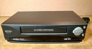 MATSUI VX1210 VCR VHS Video Cassette Recorder Black Grey - NO Remote Control