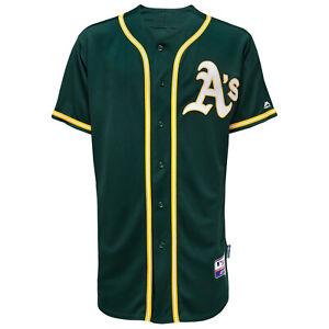 MLB Oakland Athletics A's Baseball Jersey Cool Base Majestic Jersey Green