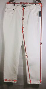 Nautica Denim Tapered Fit 5 Pocket Jeans Men's 38x30 White NWT MSRP $79.50