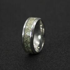 Freimaurer Ring leuchtet im Dunkeln Edelstahl Masonic Freemason Größe 11