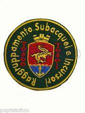 Patch Marina Militare Raggruppamento Subacqueo e Incursori Teseo Tesei Toppa