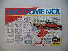 advertising Pubblicità 1983 FIAT UNO