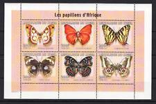 Niger - Michel-Nr. 1807-1812 postfrisch/** als Kleinbogen (Schmetterlinge)