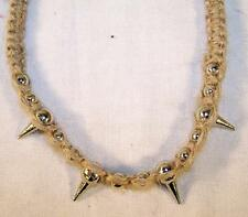 12 NEW SPIKED HEMP NECKLACES spike necklace JL320 mens pot marijuana novelties