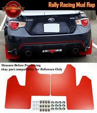 "15"" x 11.5"" 4 Pcs Red Rally Racing Flexible Mud Flaps Splash Guard Fit VW Audi.."