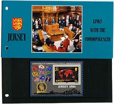 Jersey 1984 Links With Commonwealth M/S MNH Presentation Pack #C40508