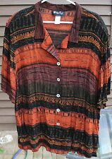 WOMEN'S MULTI-COLORED SHIRT BY ALL THAT JAZZ;  SIZE:  24