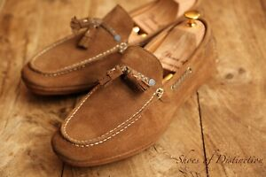 Men's Paul Smith Jeans Tan Brown Suede Loafers Driving Shoes UK 9 US 10 EU 43
