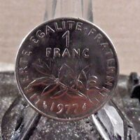 CIRCULATED 1977 1 FRANC FRENCH COIN (020417)1