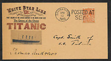 Titanic Captain Smith Autograph Envelope Genuine 1912 Stamp Reprint  *OP1301