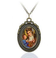 Saint Anne - Religious Necklace Catholic Medal Pendant / Charm Christian Jewelry