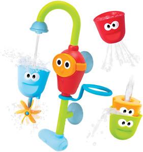 Baby Bath Toys Stackable Cups Automated Spout Multicolor Durable Bathtub Toy Set