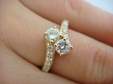 "1 CARAT T.W. ""EVER US"" DESIGN LADIES ANNIVERSARY RING 14K YELLOW GOLD"