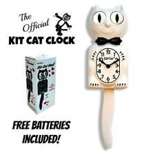 "Blanco Kit Gato Reloj 15.5"" Gratis Batería Hecho En USA Oficial Kit-Cat Klock De"
