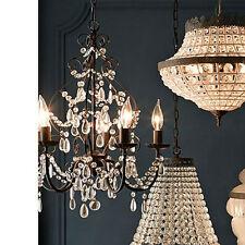 Modern Rain Drop Crystal Candle Chandelier Lighting Ceiling Fixture Pendant Lamp
