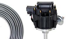 Black Hei Distributor Coil 85mm Spark Plug Wires Chevy 50l 305 57l 350 400 V8 Fits Pontiac