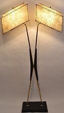 GREAT Mcm Vtg 1950s RETRO Atomic MAJESTIC Floor LAMP Fiberglass SHADES w/Stars