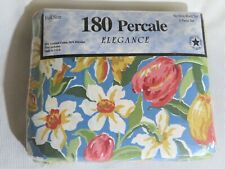 New in Package Elegance 180 Percale No Iron Full Size Sheet Set