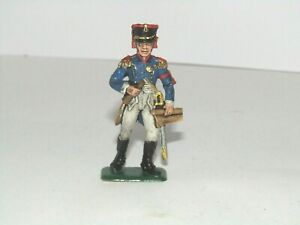 OOP ITALERI 1/32 NAPOLEONIC WARS FRENCH OFFICER WATERLOO NEWLY PAINTED SET4