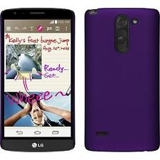 Hardcase for LG G3 Stylus rubberized purple Cover + protective foils