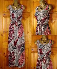 V Neck Animal Print Maxi Dresses for Women