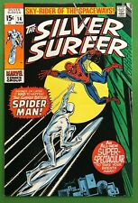 Silver Surfer #14 FN 1970 Spider-man Appearance Buscema 1st Print Marvel Comics