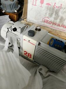 Edwards 28 E2M28 Rotary Vane Dual Stage Pump,tested working with good condition