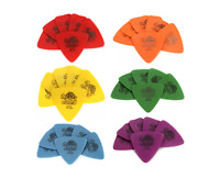 Dunlop Tortex Triangle Guitar Picks  6-pack Red Orange Yellow Green Blue Purple