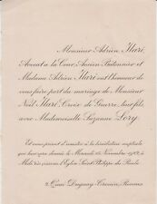 *1922 Faire-part mariage Noël ILARI & Suzanne LORY - Hermanville Rennes Paris