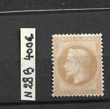 Napoléon III N 28 B neuf ** 10 c bistre  1868