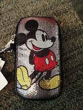 Disney-Parks-Mickey-Mouse -Cell-Phone-Case-With-Sequ ins-D-Tech-Zip-Wrist-Strap
