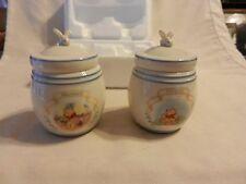 Pair of Disney Winnie The Pooh Spice Jars Lenox 2000 Mustard & Allspice