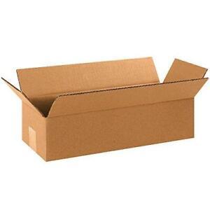 """Aviditi 1664 Long Corrugated Cardboard Box 16"""" L x 6"""" W x 4"""" H, Kraft, for"""