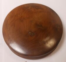 """Great Antique Yew Wood Snuff Box """"Made From Yewtree From King Oswald's Well"""