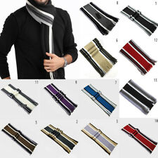 Men Knitted Wool Shawl Scarves Fashion Winter Couple Striped Scarf with Tassels
