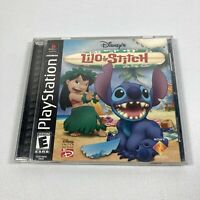 Disney's Lilo & Stitch PS1 Game Case Manual Complete (Sony PlayStation 1, 2002)