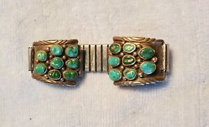 Watch Band Sterling And Turquoise NAVAJO Mens GREAT CONDITION . NAVAJO SOUTHWEST