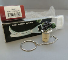 """New listing Pewter Collection """"Purple Grapes"""" Wine Things Unlimited & Equestrian boot opener"""