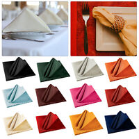 Polyester Napkins Plain Serviettes Soft Fabric Wedding Dinner Home Table Decor