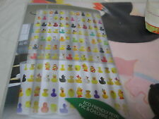 New Flash Home PEVA Vinyl Shower Curtain DUCKIES 70X72 ~ Multi Colors NIP