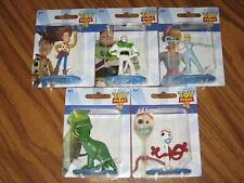 TOY STORY 4 (5) 2 INCH FIGUE LOT WOODY BUZZ LIGHTYEAR  BO PEEP REX FORKY NEW